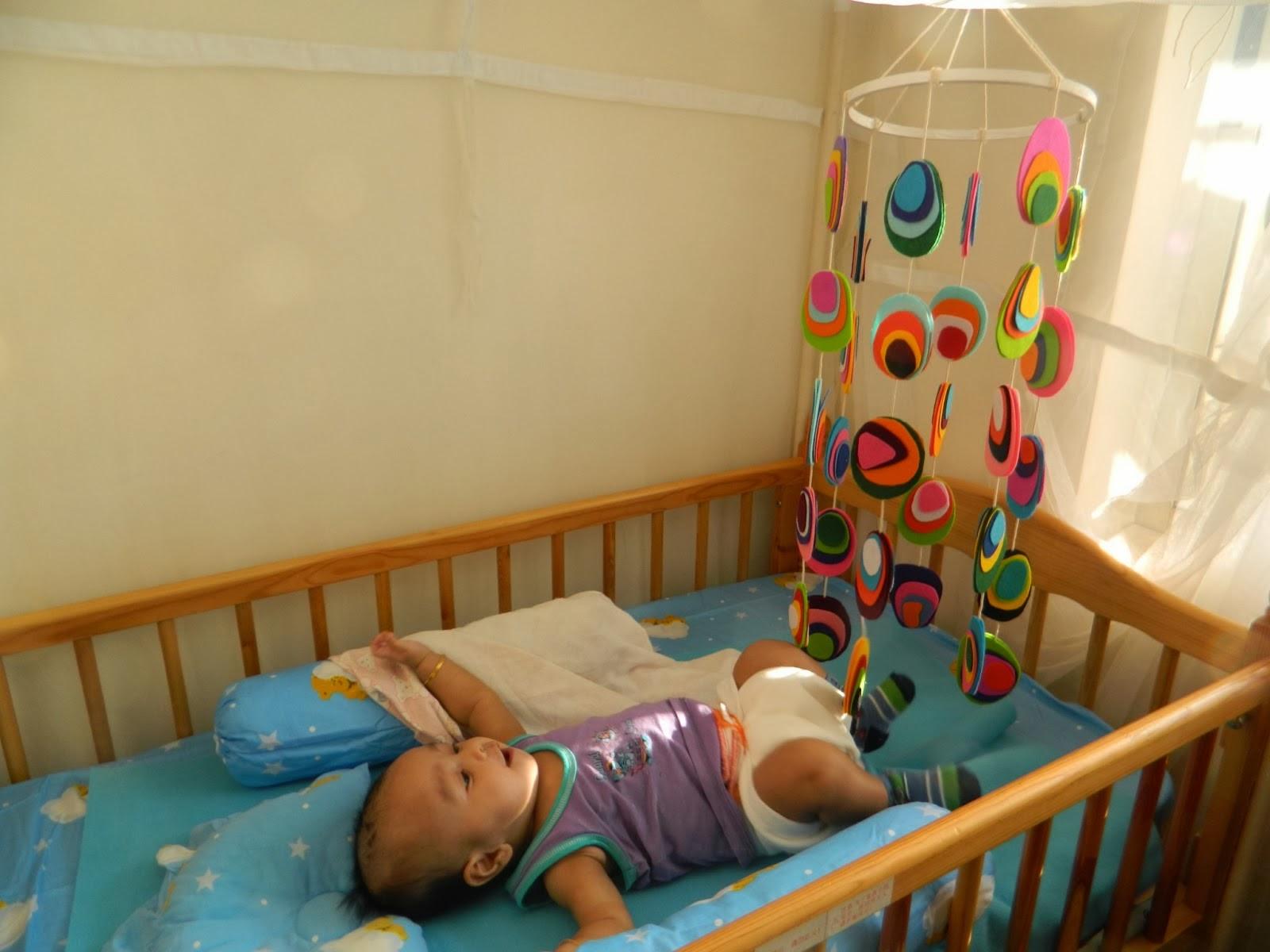 in toys rattles for crib wood bell set of from diy baby holder mobile cribs item wooden natural frame mobiles hanger