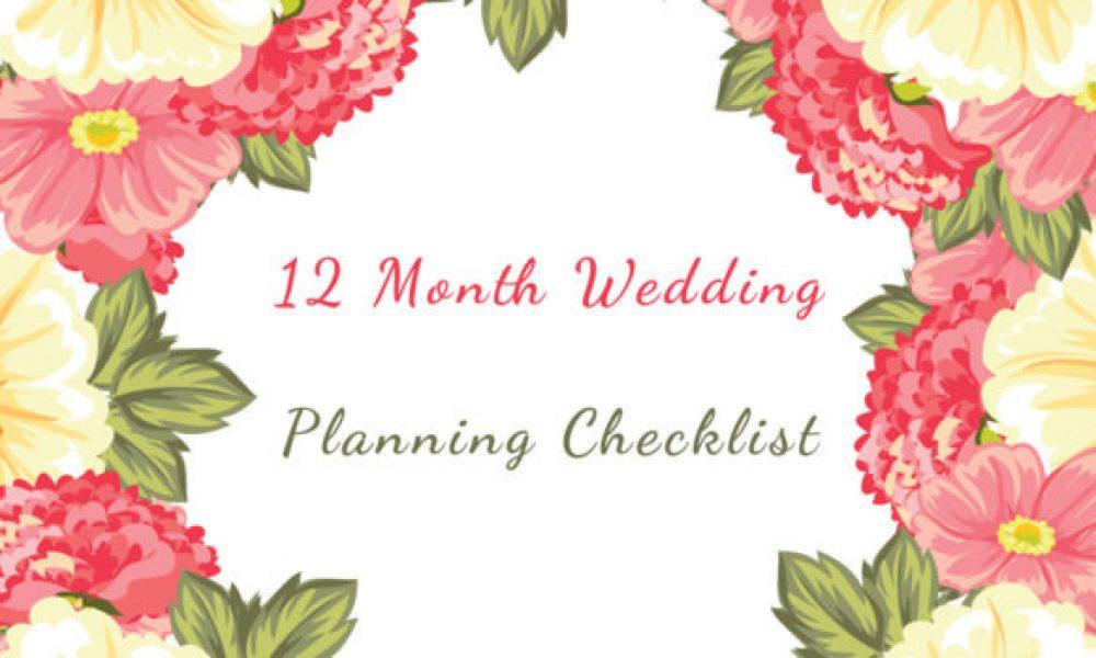 12 Month Wedding Planning Checklist For Desi Weddings